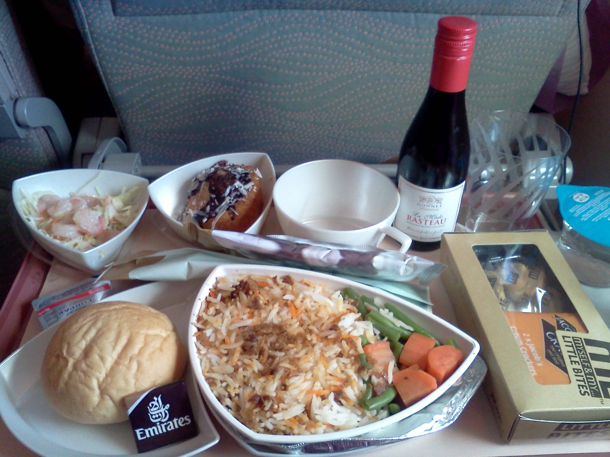 Economy Class Meal on Emirates A380  JPB Transportation