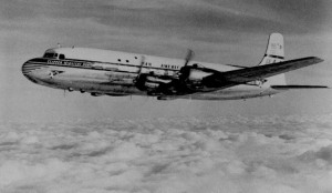 "Pan American World Airways DC-6B, the ""Super 6"", Clipper Midnight Sun."