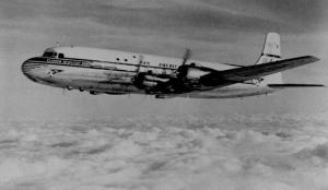 "Pan American World Airways DC-6B, the ""Super 6"", Clipper Midnight Sun."