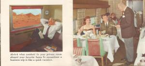 Page from Santa Fe Brochure of the Super Chief.