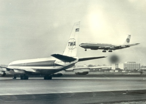 Boeing 707's of Two Iconic Airlines at Los Angeles International Airport sometime in 1969.