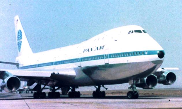 Boeing 747-121 at Los Angeles International Airport circa 1969