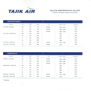Timetable Inside