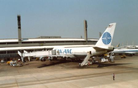 A Boeing 747 at Rio de Janeiro -  the mainstay of Pan Am's South American operations until the end.