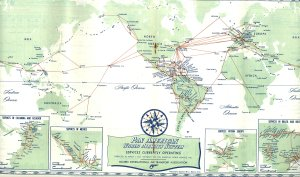 Map from 1956 timetable.