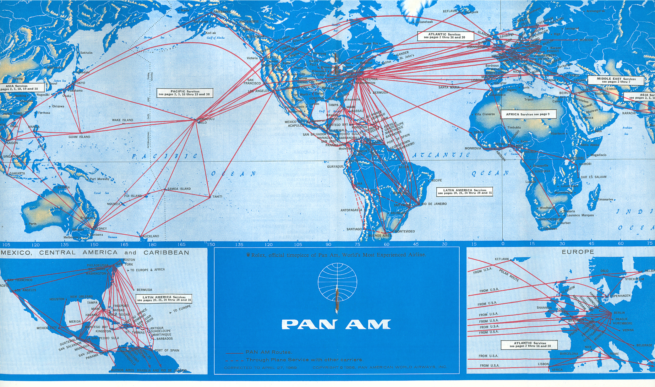 Pan Am World Airways Divisions Bases Hubs Pan Am World Docuproject - Us-airline-hubs-map