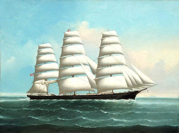 An American Clipper Ship circa 1870
