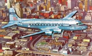 "DC-4 in ""bare metal"" color scheme."