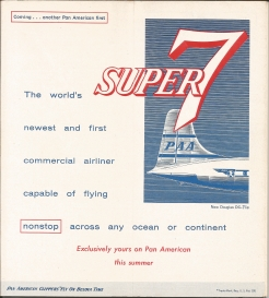 Inside Cover Promoting DC-7C