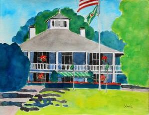 W.LGiles.Augusta.ClubHouse(wat-11x14ins)