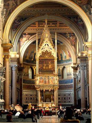 High Altar, Basilica of St. John, Lateran (Source unknown)