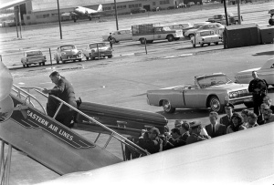 John F. Kennedy's casket being loaded on board Air Force One (The Kennedy Gallery)