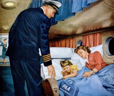 Stratocruiser painting of interior scene