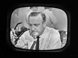 CBS newscaster Walter Cronkite announces the death of President John F. Kennedy. (CBS/Landov)