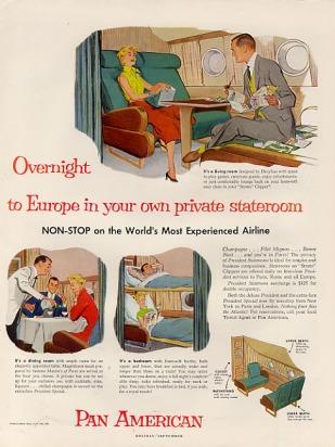 1954 overnite europe private stateroom b377 everythingpanam