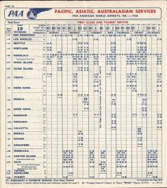 1956 timetable Pacific