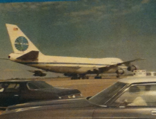 Clipper Unity at Saigon on the day of the LAST FLIGHT OUT (Al Topping)