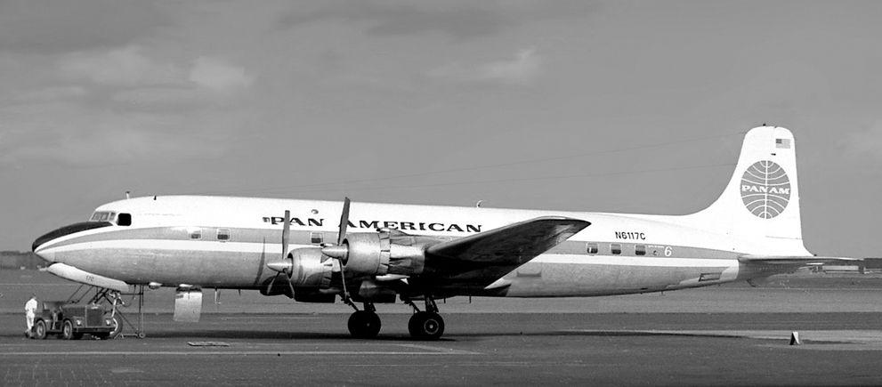 The DC-6B was used initially in the Rest and Recuperation Airlift. These aircraft were brought over from the Internal German Service in Berlin. (Ralf Manteufel photo)