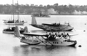 S-42 NC 16734, Pan American Clipper II/Samoan Clipper and Shorts 23 in Auckland