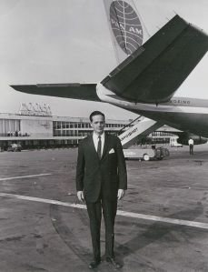 A Young George Hambleton at Moscow with a Pan American 707