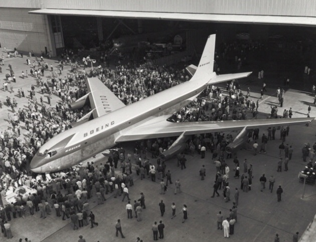 Boeing 367-80 Roll-Out (NASM Archives)