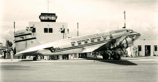 Pan American DC-3 at Santo Domingo (Dax M Roman photo)