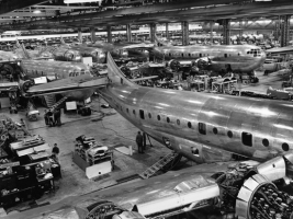 Boeing 377 assembly line