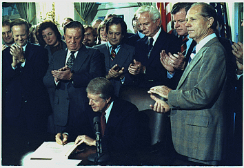 Carter signing deregulation act