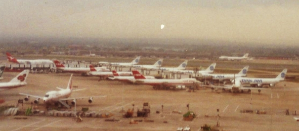 Pan American and TWA Aircraft at London Heathrow, 1989