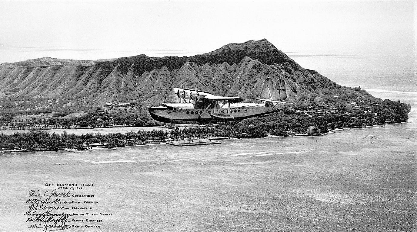 S42 Pan American Clipper off Diamond Head April 1935